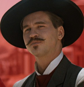 See that mustache? That was ALL Kilmer. No weaves or glue there!